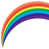 上色彩虹 库存图片