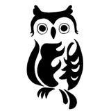上色或纹身花刺的优质猫头鹰在白色backgr 皇族释放例证