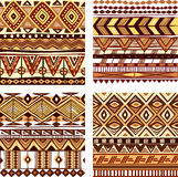 上色无缝的部族纹理 库存图片