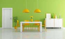上色用餐现代空间 免版税库存图片