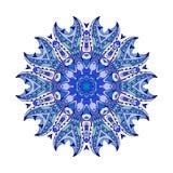 上色种族装饰花卉样式 手拉的坛场 向量例证