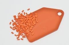上色聚合物树脂范例 免版税库存照片