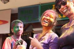 上色节日holi尼泊尔 免版税库存照片