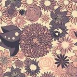 上色花卉淡色模式无缝 免版税库存图片
