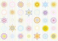 上色花卉淡色模式 免版税库存图片