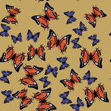 上色蝴蝶无缝的样式671 库存例证
