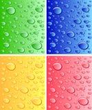 上色表面湿 免版税库存照片