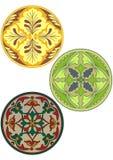 上色装饰品俄语样式 免版税库存图片