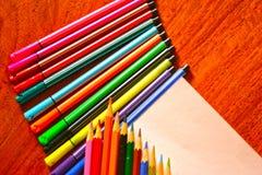 上色铅笔 免版税库存图片