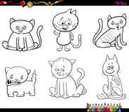 上色页的猫字符 库存图片