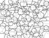 上色黑暗的地产poligons 库存图片