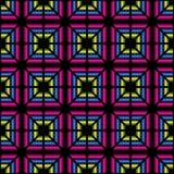 上色从三角的几何无缝的样式 库存照片