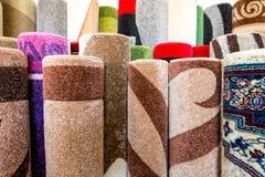 上色织地不很细地毯表面细节具体视图 免版税图库摄影