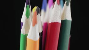 上色complect另外图画铅笔刀 股票视频