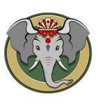 上色ganesh徽标 免版税库存图片