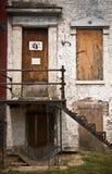 上被放弃的家 库存图片