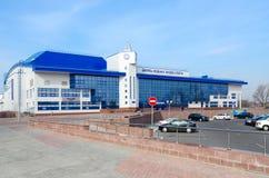水上运动宫殿,戈梅利,白俄罗斯 库存图片