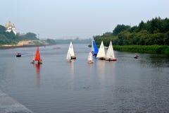 水上运动节日。秋明州 库存图片