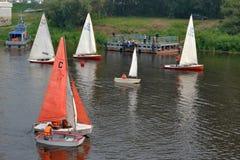 水上运动节日。秋明州 免版税图库摄影