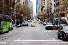 上部东边,纽约街道  库存照片
