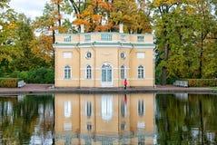 上部公共浴室亭子 Tsarskoye Selo 圣彼德堡 俄国 库存照片