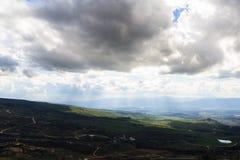 上部内盖夫加利利山风景 免版税图库摄影