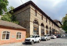 上部商队投宿的旅舍在Sheki 阿塞拜疆 免版税图库摄影