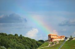 上部城堡在维尔纽斯,立陶宛 图库摄影
