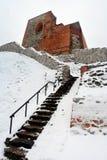 上部城堡在Gediminas小山保持是维尔纽斯城堡复合体的部分 免版税库存图片