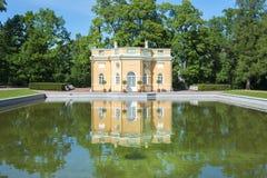 上部浴在Tsarskoe Selo,圣彼德堡,俄罗斯 免版税库存图片