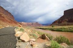 上部科罗拉多河风景小路(U-128) 免版税库存照片