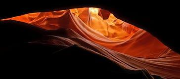 上部羚羊峡谷的眼睛 免版税库存图片
