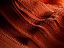 上部羚羊峡谷,亚利桑那抽象纹理  免版税库存照片