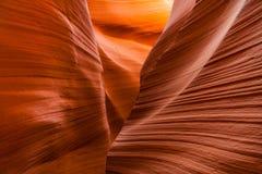 上部羚羊峡谷,页 犹他 库存照片