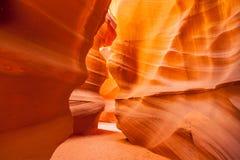 上部羚羊峡谷,页 犹他 免版税库存图片