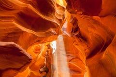 上部羚羊峡谷,页 犹他 图库摄影