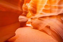 上部羚羊峡谷,页 犹他 免版税图库摄影