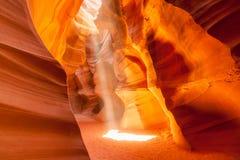 上部羚羊峡谷,页 犹他 免版税库存照片