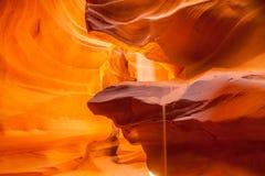 上部羚羊峡谷,页 犹他 库存图片