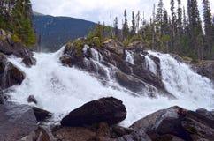 上部鬼魂秋天,马修河, BC,加拿大 免版税库存照片