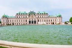 上部贝尔维德雷宫在维也纳,奥地利 免版税库存照片