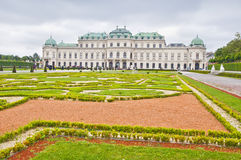 上部贝尔维德雷宫在维也纳 库存图片