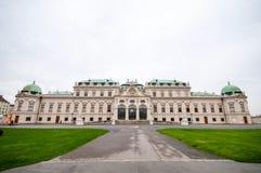 上部贝尔维德雷宫在维也纳 免版税图库摄影
