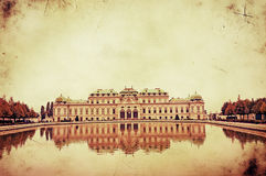 上部贝尔维德雷宫的减速火箭的图象在维也纳 库存图片