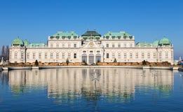 上部贝尔维德雷宫,维也纳,奥地利 库存图片