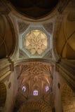 上部archs、圆顶和建筑设计的垂直的看法 图库摄影