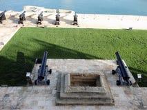 上部Barrakka庭院,瓦莱塔,马耳他 库存图片