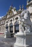 上部Belverdere宫殿-维也纳-奥地利 库存照片