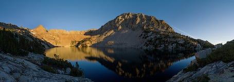上部Lamarck湖全景 库存照片