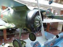 上部Pyshma,俄罗斯- 2016年7月02日:苏联战机I-15 -军用设备博物馆的展览  免版税库存图片
